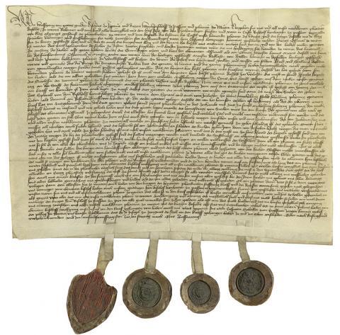 Urkunde vom Bischof von Passau, 1451